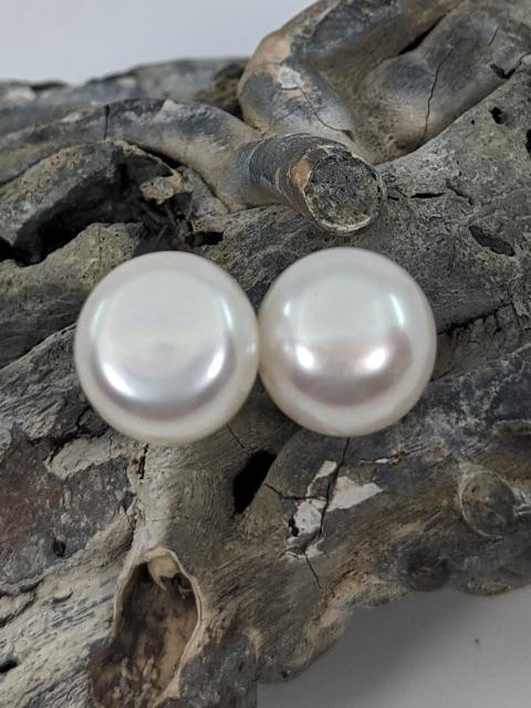 Pearl Earrings, 9mm Cultured Freshwater, Studs