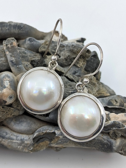 Mother of Pearl Earrings, Drops