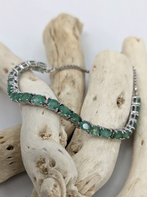 Adjustable Lariat Bracelet, Emerald