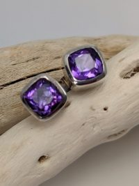 Amethyst Earrings, Studs