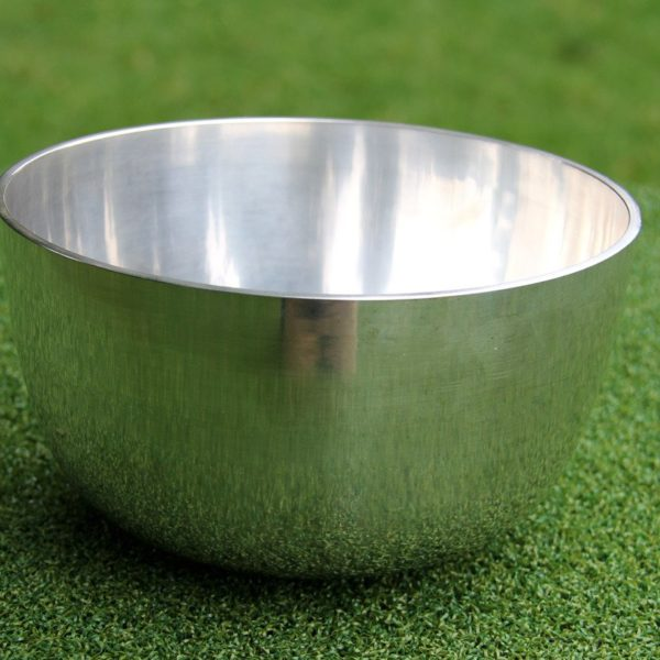 Deep plain silver bowl
