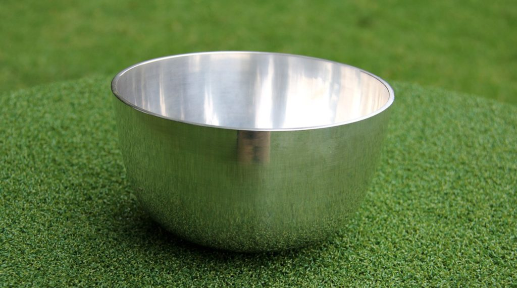 Deep plain silver bowl